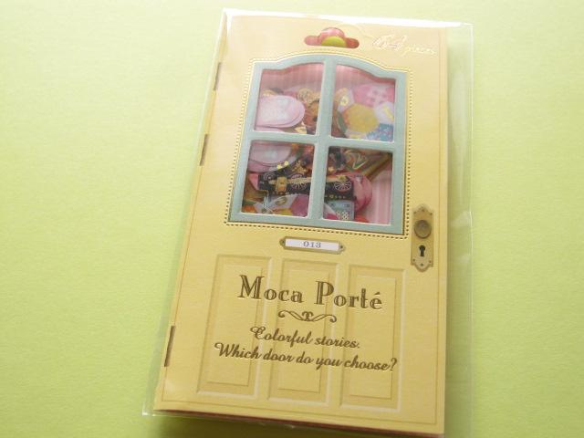 Photo1: Antique Sticker Flakes Sack Moca Porte Q-LiA *Toys (91387)