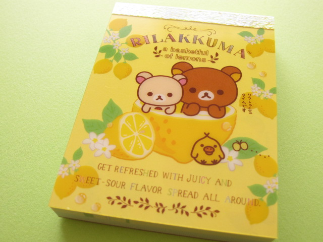 Photo1: Kawaii Cute Mini Memo Pad San-x *Rilakkuma (MM 30601-1)
