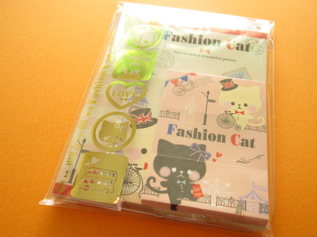 Photo1: Kawaii Cute Mini Letter Set Crux *Fashion Cat (01905)