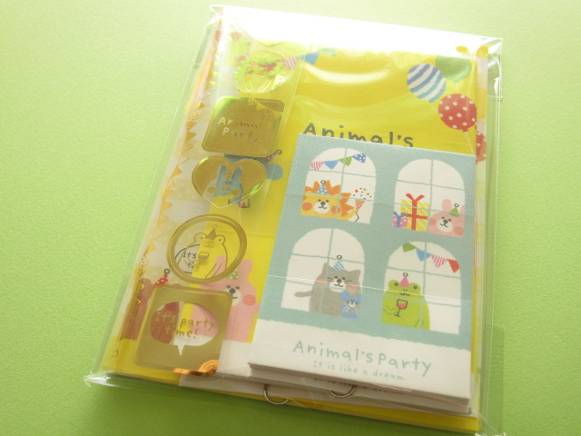 Photo1: Kawaii Cute Mini Letter Set Crux *Animal's Party (01906)