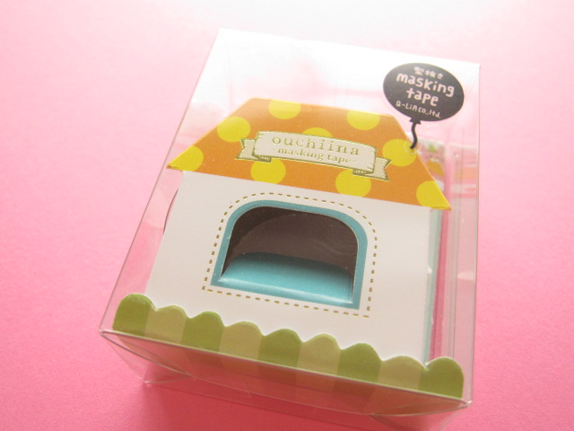 Photo1: Kawaii Cute ouchiina Deco Tape Sticker Q-LiA *Party (81102)