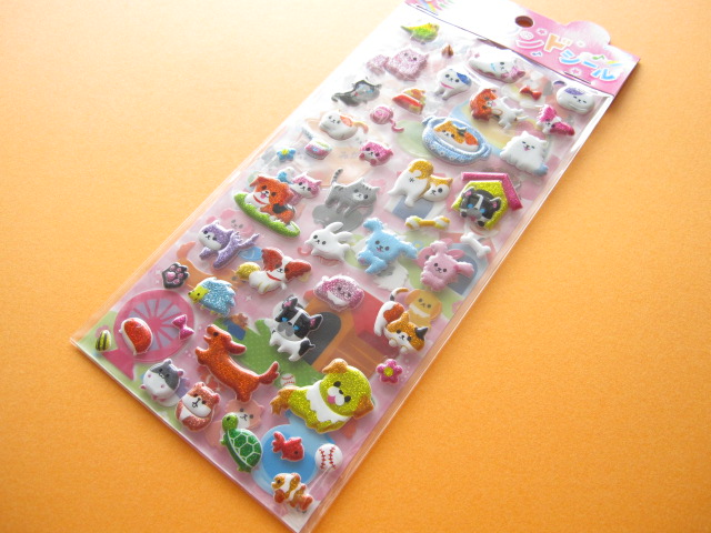 Photo1: Kawaii Cute 2 Sticker Sheets Set Animal Land Seal Q-ia *Pet Land (91409)