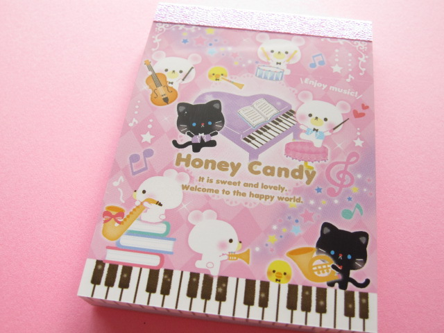 Photo1: Kawaii Cute Mini Memo Pad Q-LiA *Honey Candy Orchestra (94730)
