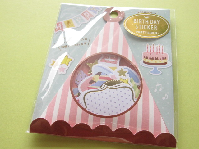 Photo1: Birthday Sticker Flakes Sack Party Sirup Q-LiA *Party/Simple (91462)