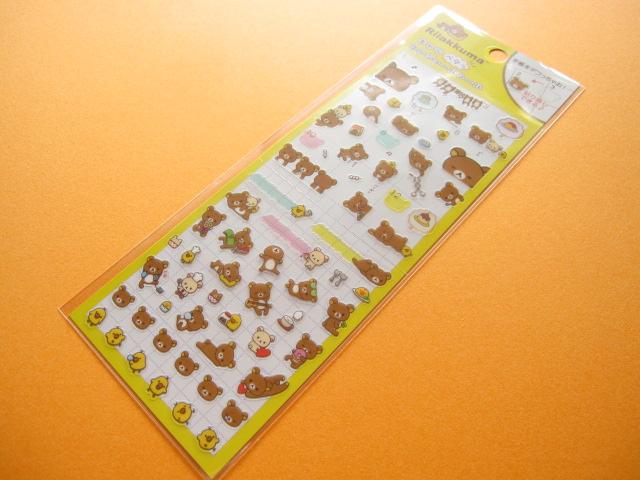 Photo1: Kawaii Cute Deco Sticker Sheet San-x *Rilakkuma  (SE24901)