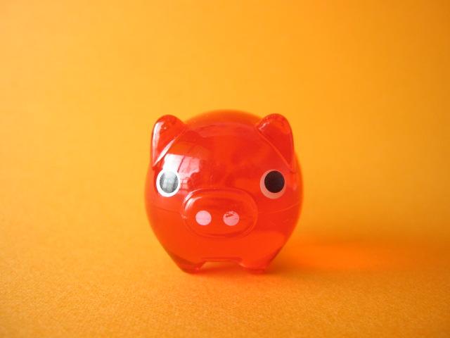 Photo1: Cute Butachu Mini Piggy Acrylic Mascot Toy *Red