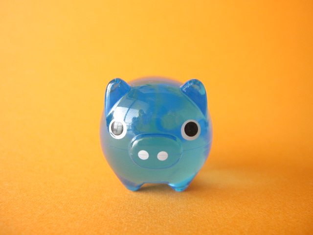 Photo1: Cute Butachu Mini Piggy Acrylic Mascot Toy *Blue