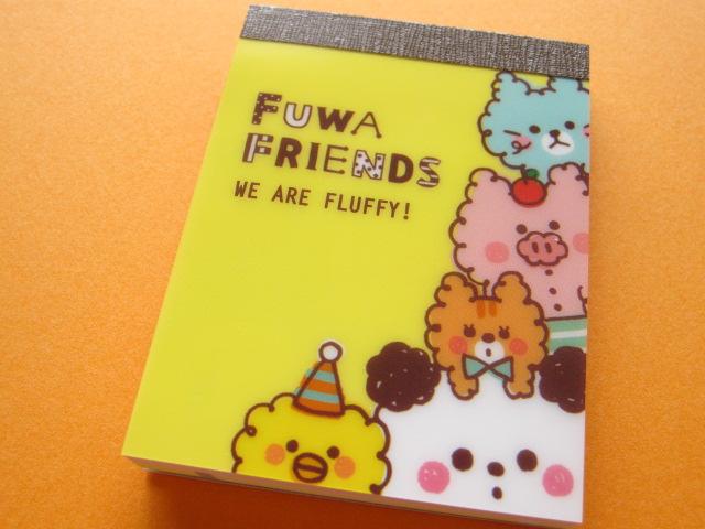 Photo1: Kawaii Cute Mini Memo Pad Mind Wave *FUWA FRIENDS (39603)