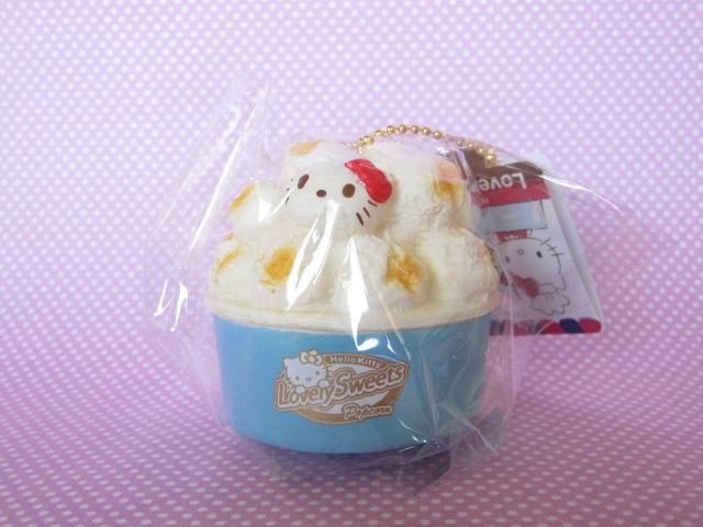 Photo1: Kawaii Cute Hello Kitty Lovely Sweets Squishy Keychain Charm Sanrio *Popcorn Salt