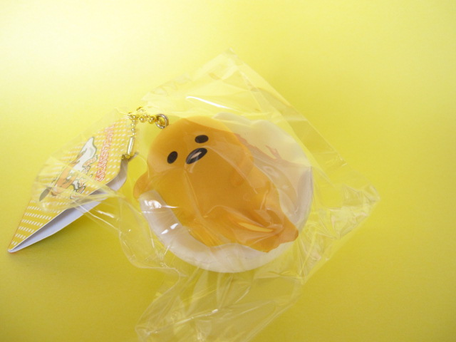 Photo1: Kawaii Cute Gudetama Squishy Keychain Charm Sanrio *あ〜あ・・・Phew...(NS0230-1)