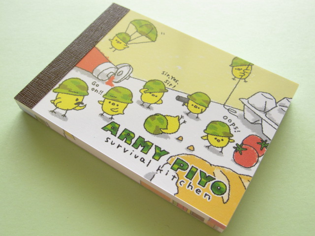 Photo1: Kawaii Cute Mini Memo Pad Crux *ARMY PIYO (08037)