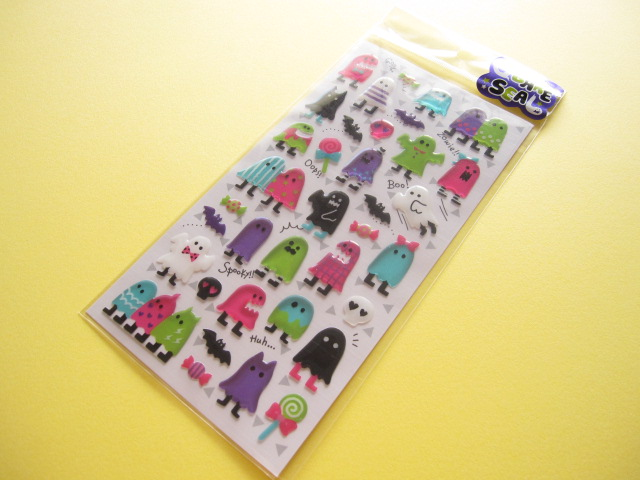 Photo1: Kawaii Cute Obake Sticker Sheet Mind Wave * Spocky mates (76451)