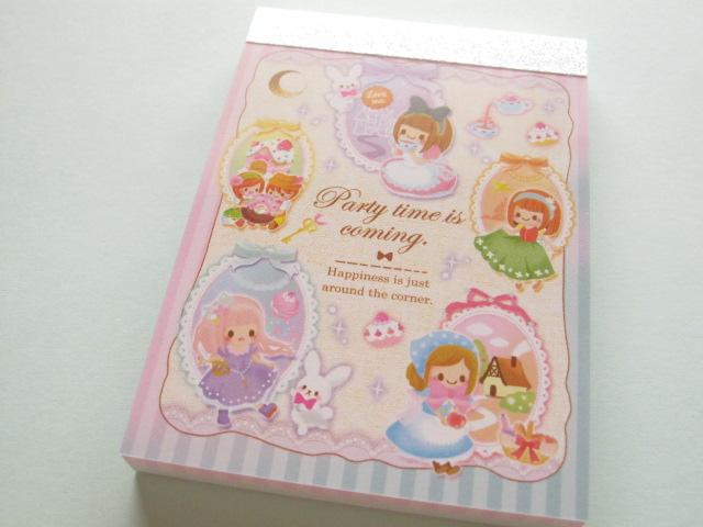 Photo1: Kawaii Cute Mini Memo Pad Crux *Party time is coming. (29543)