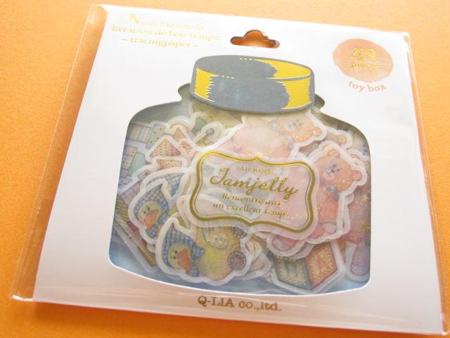 Photo1: JAMJELLY Sticker Flakes Sack Q-LiA *Toy Box (91548)