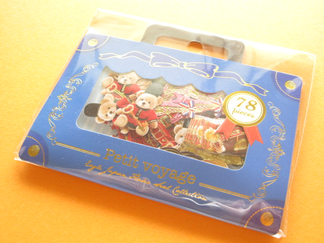 Photo1: Petit Voyage Sticker Flakes Sack Eagle Japan *Travel (GS369)