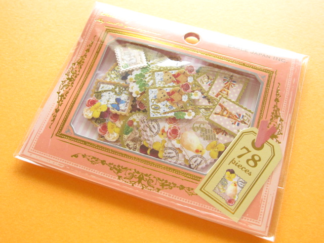 Photo1: Gallery Seal Sticker Flakes Sack Eagle Japan *The Eiffel Tower (GS363)