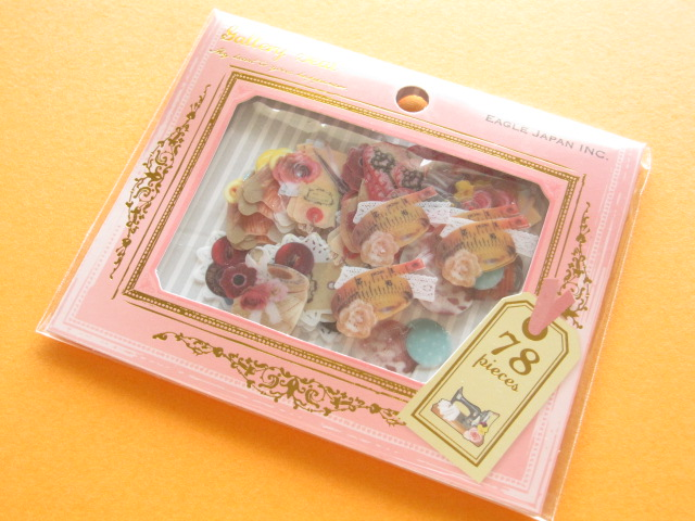 Photo1: Gallery Seal Sticker Flakes Sack Eagle Japan *Sewing (GS356)