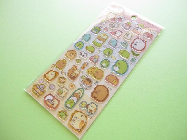 Photo1: Kawaii Cute Colorful Clear Sticker Sheet San-x *Sumikkogurashi (SE24807 )