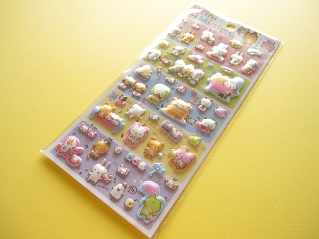 Photo1: Kawaii Cute Puffy Sticker Sheet Q-LiA *Mini Mini (91415)