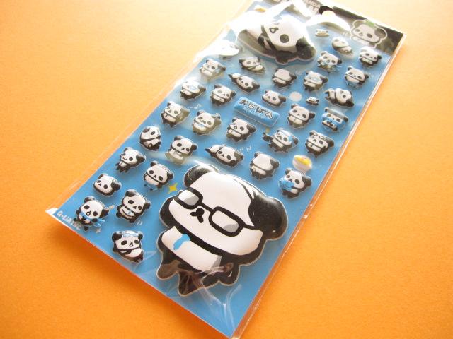 Photo1: Kawaii Cute Puffy Sticker Sheet Q-LiA *おじぱん OJIPAN (91007)