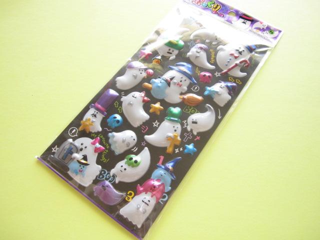 Photo1: Kawaii Cute メガ ぷっくり Sticker Sheet Mind Wave *Ghost Town (76135)