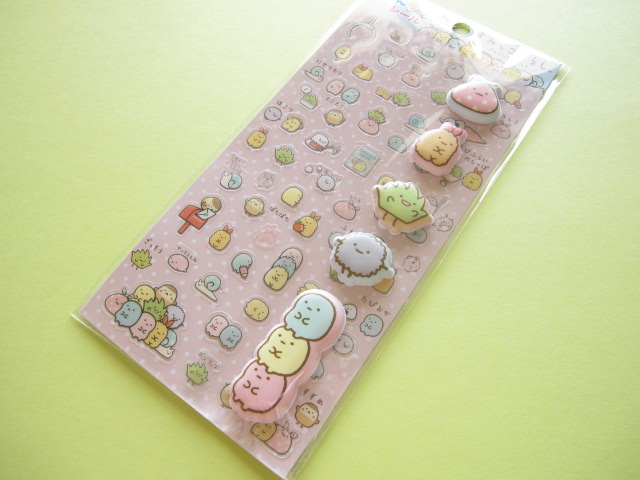 Photo1: Kawaii Cute ふにプラス Sticker Sheet San-x *Sumikkogurashi (SE27704)