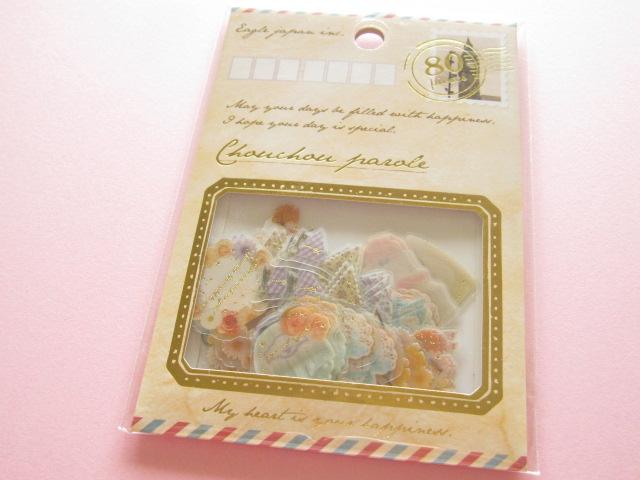 Photo1: Chouchou Parole  Sticker Flakes Sack Eagle Japan *Natural Girly (CP440)
