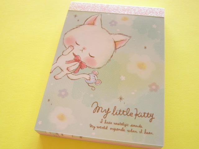 Photo1: Kawaii Cute Mini Memo Pad Q-LiA *My little kitty  (00111)