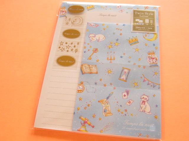 Photo1: Kawaii Cute Letter Set Mind Wave * Temps La Nuit (39894)