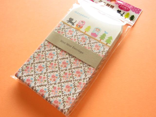Photo1: 20 pcs Kawaii Cute Matryoshka/Matrioshka Mini Envelopes Set *D