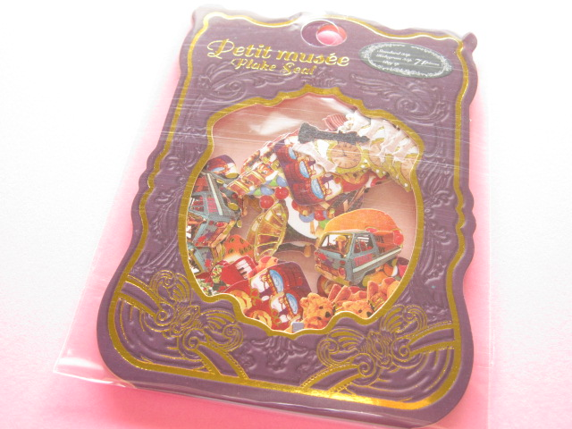 Photo1: Petit Musee Sticker Flakes Sack Stead Fast *Toy (7979)