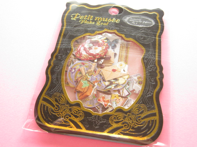Photo1: Petit Musee Sticker Flakes Sack Stead Fast *Antique (7983)