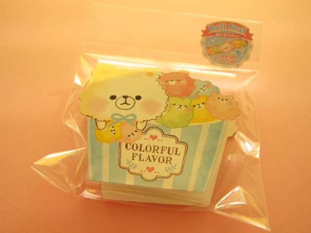 Photo1: Kawaii Cute Roll Seal Deco Tape Sticker Crux *Colorful Flavor (05283)