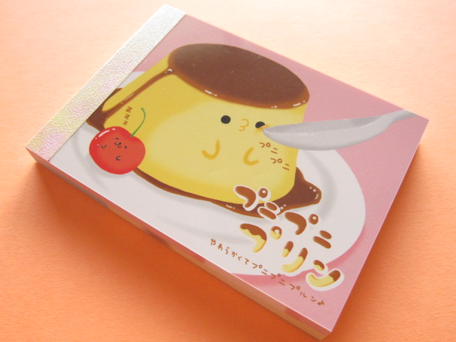 Photo1: Kawaii Cute Mini Memo Pad Crux *プニプニ プリン (08135)