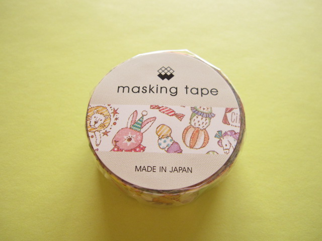 Photo1: Kawaii Cute Masking Tape/Deco Tape Sticker Mind Wave *Circus (92908)