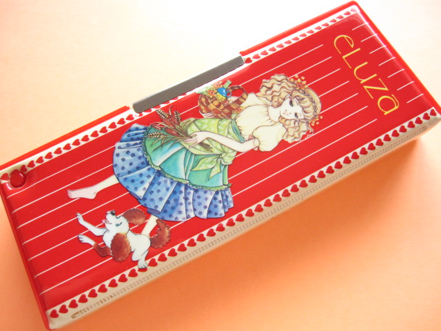 Photo1: Japanese Vintage Magnetic Pen/Pencil Case Box *ELUZA 1970s