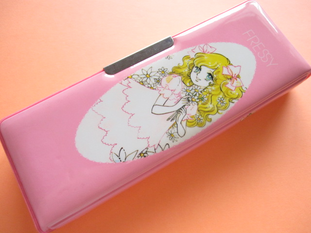 Photo1: Japanese Vintage Magnetic Pen/Pencil Case Box *FRESSY 1970s