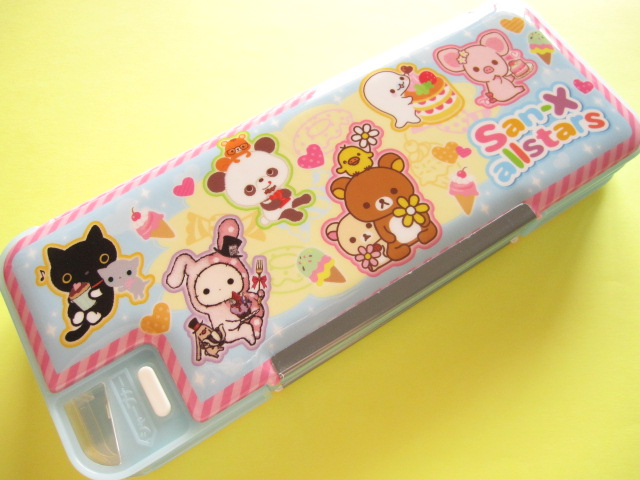 Photo1: Kawaii Cute Pencil/Pen Case/Box San-x Characters Allstars *Blue (P-1502BT)