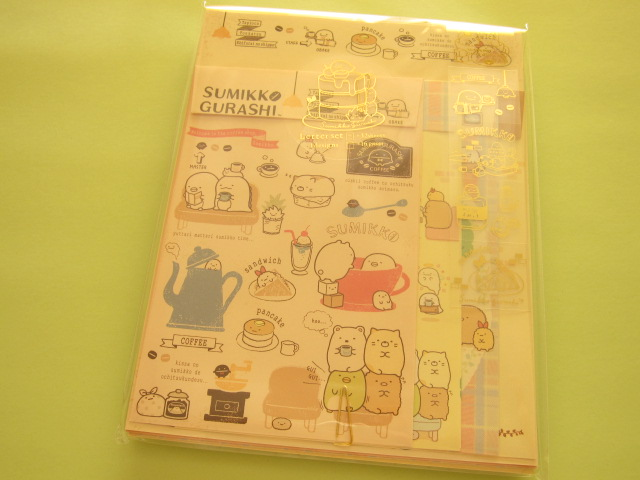 Photo1: Kawaii Cute Letter Set San-x *Sumikkogurashi 喫茶すみっコ (LH55601)