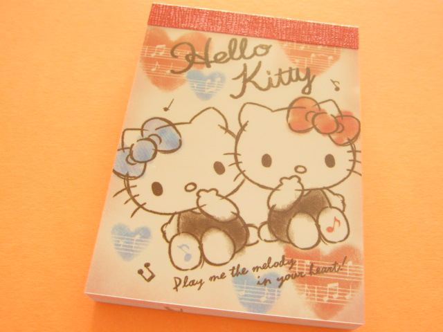 Photo1: Kawaii Cute Mini Memo Pad Sanrio Japan Exclusive *Hello Kitty (82670)