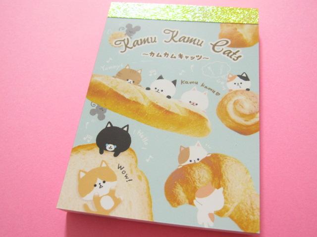 Photo1: Kawaii Cute Mini Memo Pad Crux *Kamu Kamu Cats (08177)