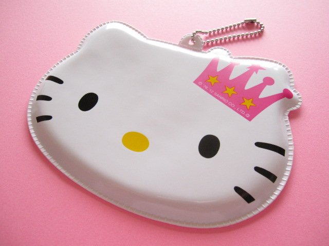 Photo1: Kawaii Cute Hello Kitty Card Case Keychain Furoku