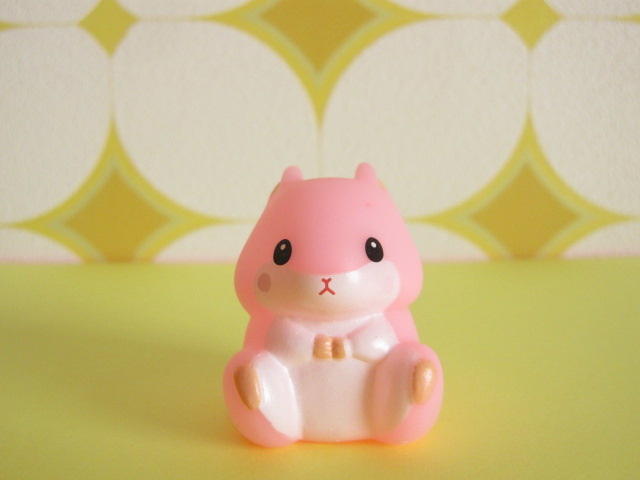 Photo1: Kawaiil Cute Korohamu Koron Mini Figure Doll *Pink