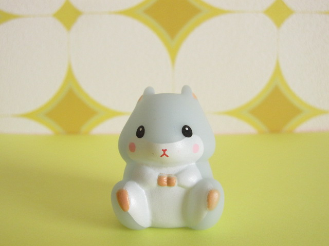 Photo1: Kawaiil Cute Korohamu Koron Mini Figure Doll *Bluish Gray