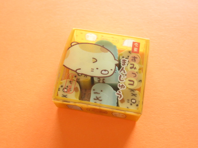 Photo1: Kawaii Cute Tiny Sushi Eraser Set Sumikkogurashi San-x * Lizard & Mother Neko Manju (KS41301-4)