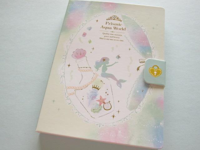 Photo1: Kawaii Cute Large Memo Pad Q-LiA *Prismic Aquq World (00552)