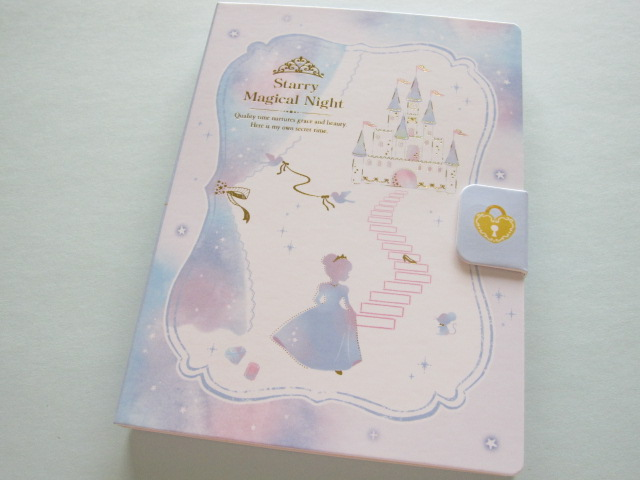 Photo1: Kawaii Cute Large Memo Pad Q-LiA *Starry Magical Night (00551)
