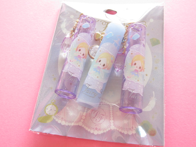 Photo1: 3 pcs Kawaii Cute Pencil Caps Set Q-lia Little Fairy Tale *Tinker Bell (04544)