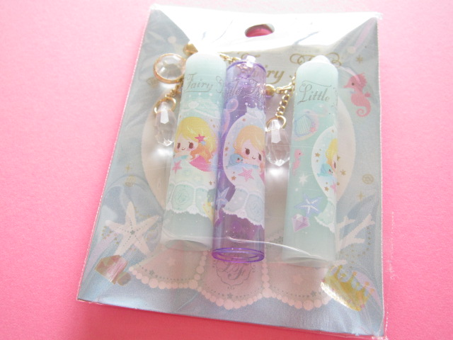 Photo1: 3 pcs Kawaii Cute Pencil Caps Set Q-lia Little Fairy Tale *Little Mermaid (04541)