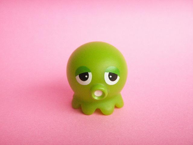 Photo1: Cute Gachapin Takochu Plastic Mini Figure Toy *Green